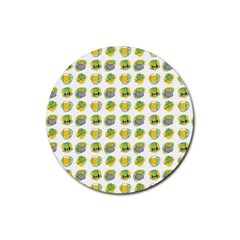 St Patrick s Day Background Symbols Rubber Coaster (round)  by Simbadda