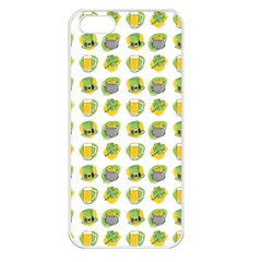 St Patrick s Day Background Symbols Apple Iphone 5 Seamless Case (white) by Simbadda