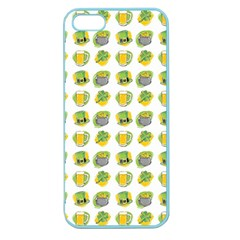 St Patrick s Day Background Symbols Apple Seamless Iphone 5 Case (color) by Simbadda