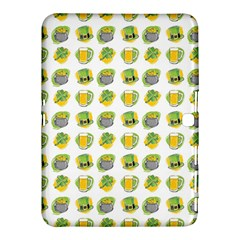 St Patrick s Day Background Symbols Samsung Galaxy Tab 4 (10 1 ) Hardshell Case  by Simbadda
