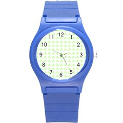 Shamrock Irish St Patrick S Day Round Plastic Sport Watch (s) by Simbadda