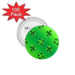 Shamrock Green Pattern Design 1 75  Buttons (100 Pack)  by Simbadda