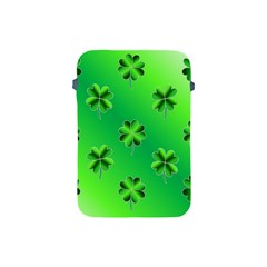 Shamrock Green Pattern Design Apple Ipad Mini Protective Soft Cases by Simbadda
