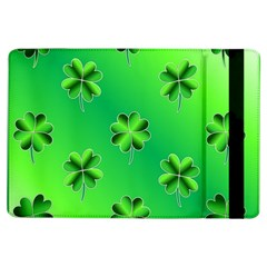 Shamrock Green Pattern Design Ipad Air Flip by Simbadda