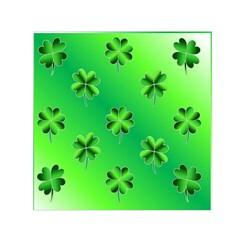 Shamrock Green Pattern Design Small Satin Scarf (square) by Simbadda
