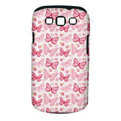 Cute Pink Flowers And Butterflies Pattern  Samsung Galaxy S Iii Classic Hardshell Case (pc+silicone) by TastefulDesigns