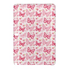 Cute Pink Flowers And Butterflies Pattern  Samsung Galaxy Tab Pro 12 2 Hardshell Case by TastefulDesigns