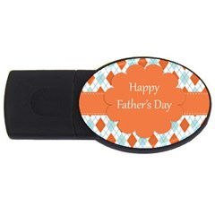 happy Father Day  USB Flash Drive Oval (1 GB) by Simbadda