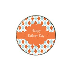 Happy Father Day  Hat Clip Ball Marker (10 Pack) by Simbadda
