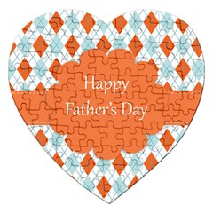 Happy Father Day  Jigsaw Puzzle (heart) by Simbadda