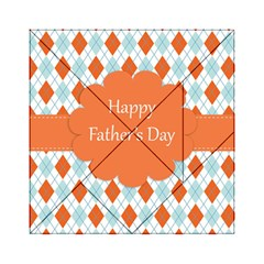 Happy Father Day  Acrylic Tangram Puzzle (6  X 6 ) by Simbadda
