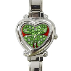 Shamrock Irish Ireland Clover Day Heart Italian Charm Watch