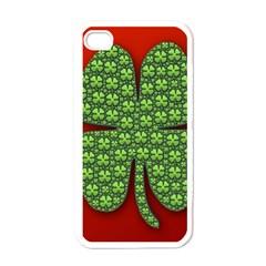 Shamrock Irish Ireland Clover Day Apple Iphone 4 Case (white) by Simbadda
