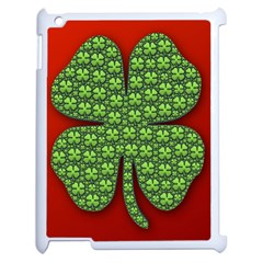 Shamrock Irish Ireland Clover Day Apple Ipad 2 Case (white) by Simbadda