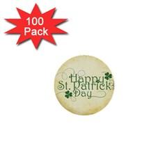 Irish St Patrick S Day Ireland 1  Mini Buttons (100 Pack)  by Simbadda