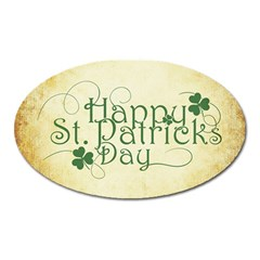 Irish St Patrick S Day Ireland Oval Magnet by Simbadda