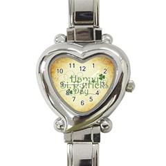 Irish St Patrick S Day Ireland Heart Italian Charm Watch by Simbadda