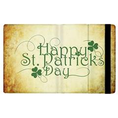 Irish St Patrick S Day Ireland Apple Ipad 3/4 Flip Case by Simbadda