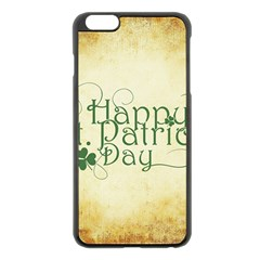 Irish St Patrick S Day Ireland Apple Iphone 6 Plus/6s Plus Black Enamel Case by Simbadda