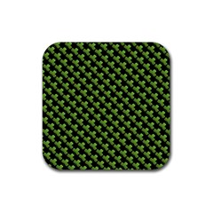 St Patrick S Day Background Rubber Coaster (square)  by Simbadda