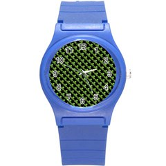 St Patrick S Day Background Round Plastic Sport Watch (s) by Simbadda