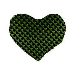 St Patrick S Day Background Standard 16  Premium Flano Heart Shape Cushions by Simbadda