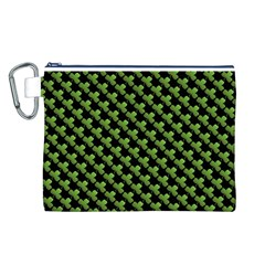 St Patrick S Day Background Canvas Cosmetic Bag (l) by Simbadda