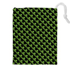 St Patrick S Day Background Drawstring Pouches (xxl) by Simbadda