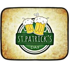 Irish St Patrick S Day Ireland Beer Fleece Blanket (mini) by Simbadda