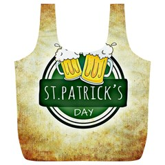 Irish St Patrick S Day Ireland Beer Full Print Recycle Bags (l)  by Simbadda