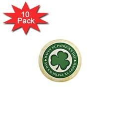 Irish St Patrick S Day Ireland 1  Mini Magnet (10 Pack)  by Simbadda