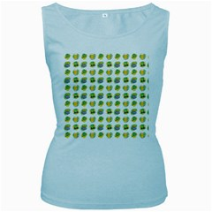 St Patrick S Day Background Symbols Women s Baby Blue Tank Top