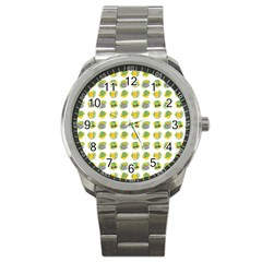St Patrick S Day Background Symbols Sport Metal Watch by Simbadda