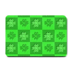 Fabric Shamrocks Clovers Small Doormat  by Simbadda