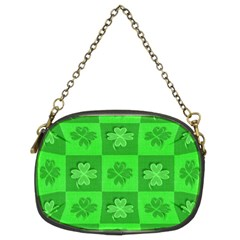 Fabric Shamrocks Clovers Chain Purses (two Sides)  by Simbadda