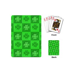 Fabric Shamrocks Clovers Playing Cards (mini)  by Simbadda