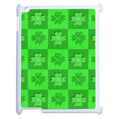 Fabric Shamrocks Clovers Apple Ipad 2 Case (white) by Simbadda