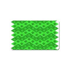 Shamrocks 3d Fabric 4 Leaf Clover Magnet (name Card) by Simbadda