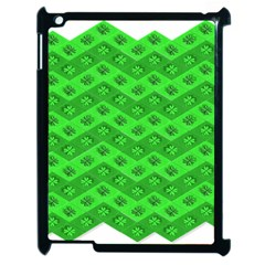 Shamrocks 3d Fabric 4 Leaf Clover Apple Ipad 2 Case (black) by Simbadda