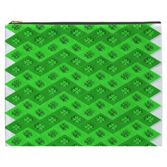 Shamrocks 3d Fabric 4 Leaf Clover Cosmetic Bag (xxxl)  by Simbadda