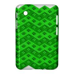 Shamrocks 3d Fabric 4 Leaf Clover Samsung Galaxy Tab 2 (7 ) P3100 Hardshell Case  by Simbadda