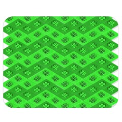 Shamrocks 3d Fabric 4 Leaf Clover Double Sided Flano Blanket (medium)  by Simbadda