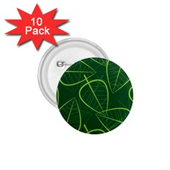 Vector Seamless Green Leaf Pattern 1 75  Buttons (10 Pack) by Simbadda