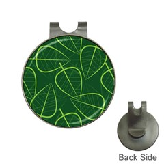 Vector Seamless Green Leaf Pattern Hat Clips With Golf Markers by Simbadda
