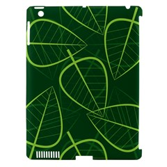 Vector Seamless Green Leaf Pattern Apple Ipad 3/4 Hardshell Case (compatible With Smart Cover) by Simbadda