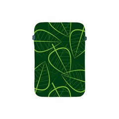 Vector Seamless Green Leaf Pattern Apple Ipad Mini Protective Soft Cases by Simbadda