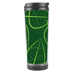 Vector Seamless Green Leaf Pattern Travel Tumbler by Simbadda