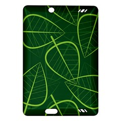 Vector Seamless Green Leaf Pattern Amazon Kindle Fire Hd (2013) Hardshell Case by Simbadda