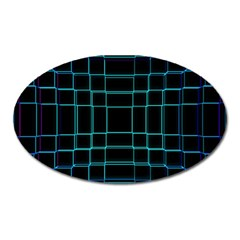 Abstract Adobe Photoshop Background Beautiful Oval Magnet by Simbadda