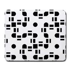 Black And White Pattern Large Mousepads by Simbadda